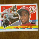 Terry Pendleton St. Louis Cardinals Third Base Card No. 135 - 1990 Topps Baseball Card