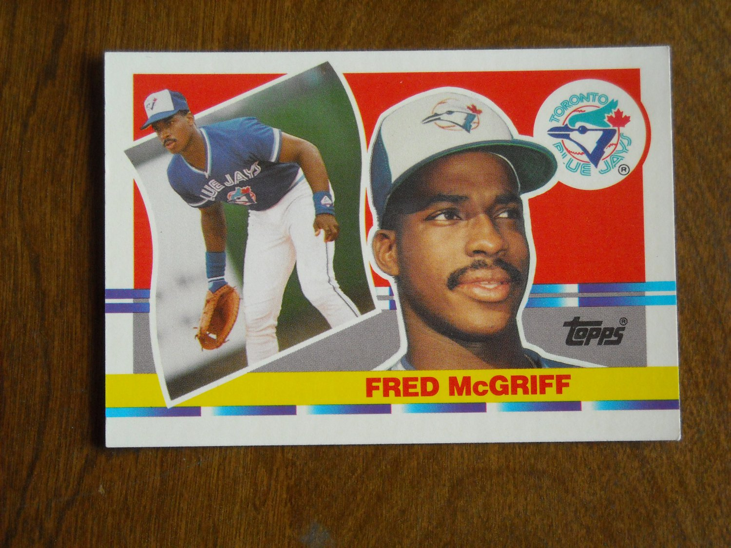 Fred Mcgriff Toronto Blue Jays 134 1990 Topps Big Baseball Card