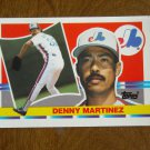 Denny Martinez Montreal Expos Pitcher Card No. 133 - 1990 Topps Baseball Card