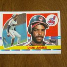 Dion James Cleveland Indians Outfield Card No. 132 - 1990 Topps Baseball Card