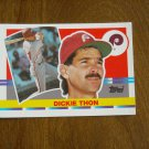 Dickie Thon Philadelphia Phillies Shortstop Card No. 115 - 1990 Topps Baseball Card