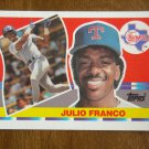 Julio Franco Texas Rangers Second Base Card No. 205 - 1990 Topps Baseball Card