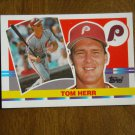 Tom Herr Philadelphia Phillies Second Base Card No. 206 - 1990 Topps Baseball Card