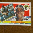 Bobby Bonilla Pittsburgh Pirates 3b - 1b Card No. 206 - 1990 Topps Baseball Card