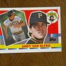 Andy Van Slyke Pittsburgh Pirates Outfield Card No. 217 - 1990 Topps Baseball Card