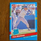 Tino Martinez Seattle Mariners First Base Rated Rookie Card No. 28 - 1990 Leaf Baseball Card