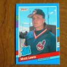 Mark Lewis Cleveland Indians Shortstop Rated Rookie Card No. 29 - 1990 Leaf Baseball Card