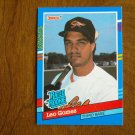 Leo Gomez Baltimore Orioles Third Base Rated Rookie Card No. 35 - 1990 Leaf Baseball Card