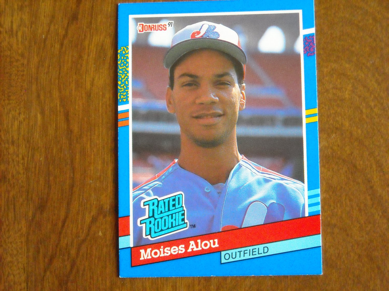 Moises Alou Montreal Expos Rated Rookie 38 1991 Donruss