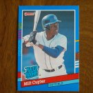 Milt Cuyler Detroit Tigers Outfield Rated Rookie Card No. 40 - 1990 Leaf Baseball Card