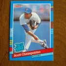 Scott Chiamparino Texas Rangers Pitcher Rated Rookie Card No. 42 - 1990 Leaf Baseball Card