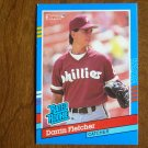 Darrin Fletcher Phillies Catcher Rated Rookie Card No. 47 - 1990 Leaf Baseball Card