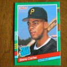 Steve Carter Pittsburgh Pirates Outfield Rated Rookie Card No. 418 - 1990 Leaf Baseball Card