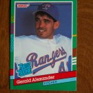 Gerald Alexander Texas Rangers Pitcher Rated Rookie Card No. 419 - 1990 Leaf Baseball Card