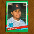 Richard Garces Minnesota Twins Pitcher Rated Rookie Card No. 420 - 1990 Leaf Baseball Card