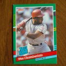 Wes Chamberlain Philadelphia Phillies Outfield Rated Rookie Card No. 423 - 1990 Leaf Baseball Card