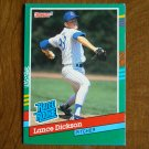 Lance Dickson Chicago Cubs Pitcher Rated Rookie Card No. 424 - 1990 Leaf Baseball Card