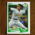 Rick Honeycutt Oakland Athletics A's Pitcher Card No. 11 (BC11) 1990 Fleer Baseball Card