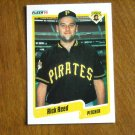 Rick Reed Pittsburgh Pirates Pitcher Card No. 477 (BC477) 1990 Fleer Baseball Card