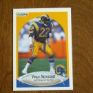Vince Newsome Los Angeles Rams Defensive Back Card No 44 - 1990 Fleer Football Card