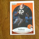 Tim Manoa Cleveland Browns Running Back Card No 53 - 1990 Fleer Football Card