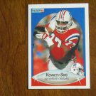 Kenneth Sims New England Patriots Defensive Lineman Card No 327 - 1990 Fleer Football Card