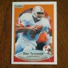 Vinny Testaverde Tampa Bay Buccaneers Quarterback Card No 356 - 1990 Fleer Football Card