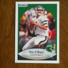 Ken O'Brien New York Jets Quarterback Card No 367 - 1990 Fleer Football Card