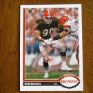 Bob Burnett Cleveland Browns Defensive End Card No 503 - 1991 Upper Deck Football Card