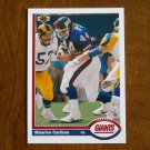 Maurice Carthon New York Giants Running Back Card No 504 - 1991 Upper Deck Football Card