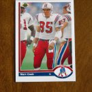 Marv Cook New England Patriots Tight End Card No. 534 - 1991 Upper Deck Football Card