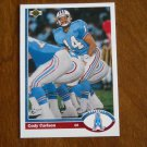 Cody Carlson Houston Oilers Quarterback Card No. 556 - 1991 Upper Deck Football Card