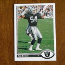 Tom Benson Los Angeles Raiders Linebacker Card No. 558 - 1991 Upper Deck Football Card