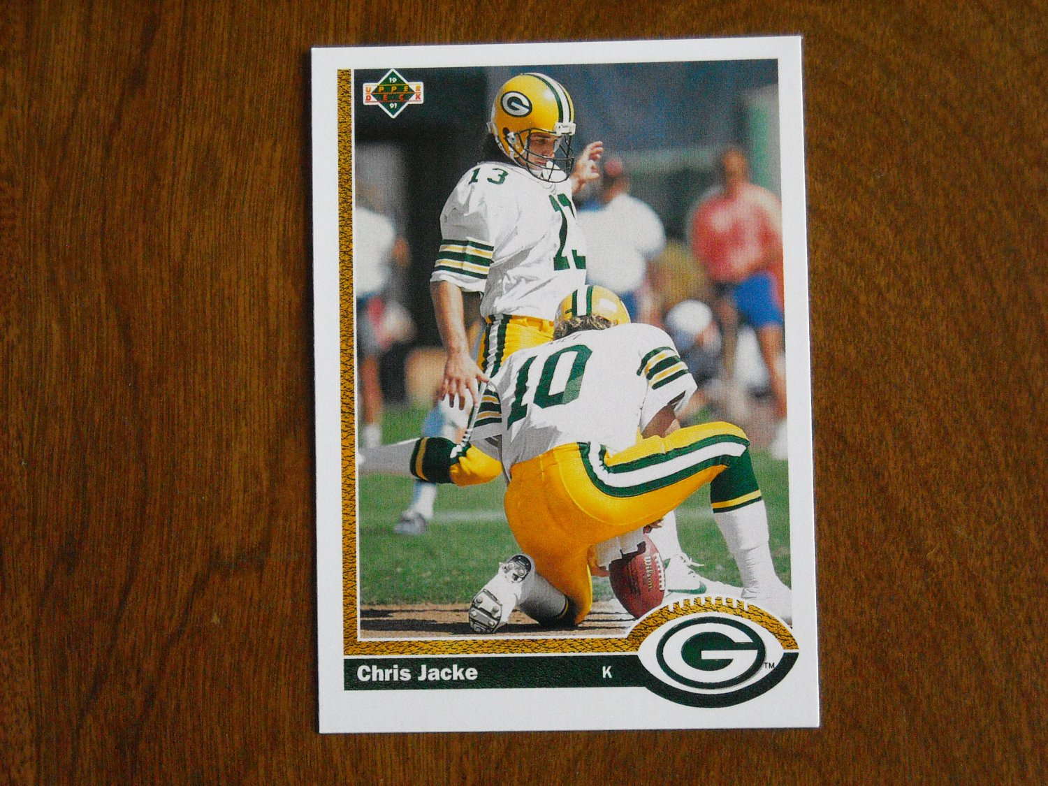 finest selection 40db3 65f8d Chris Jacke Green Bay Packers #577 - 1991 Upper Deck ...