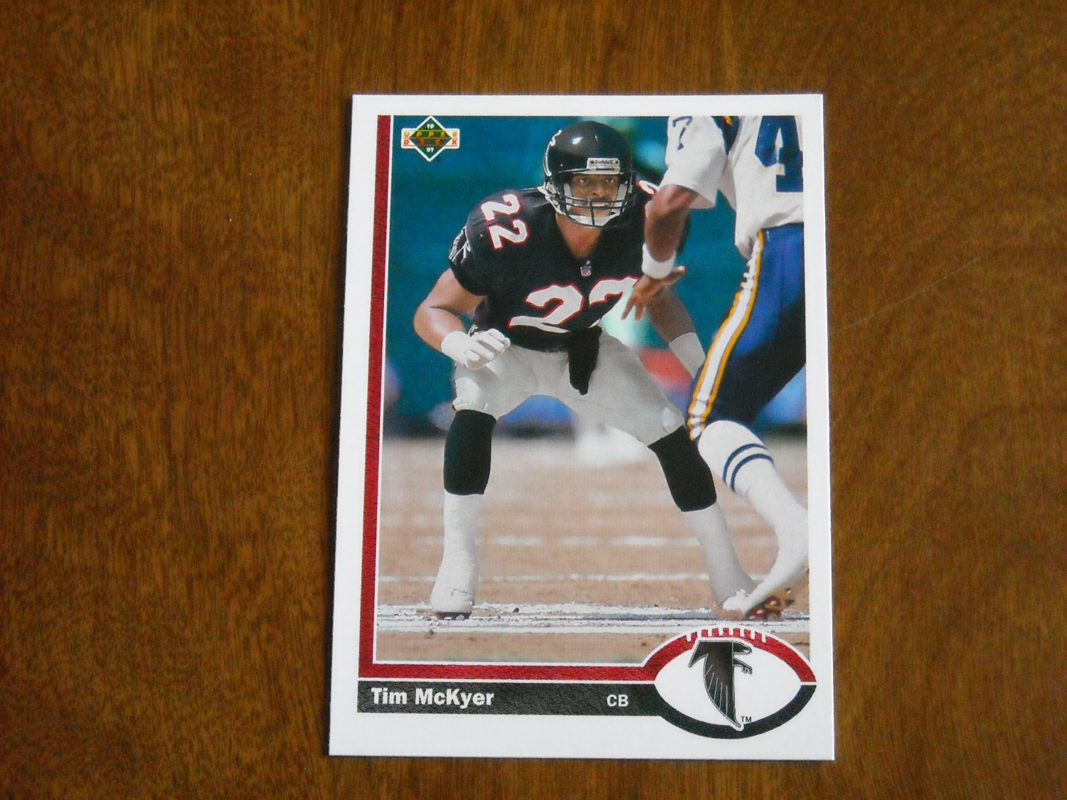 Tim McKyer Atlanta Falcons Cornerback Card No. 580 - 1991 Upper Deck Football Card