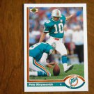 Pete Stoyanovich Miami Dolphins Kicker Card No. 583 - 1991 Upper Deck Football Card