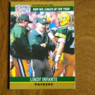 Lindy Infante Green Bay Packers Head Coach Card No. 3 - 1990 Pro Set Football Card