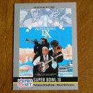 Super Bowl IX January 1975 Steelers vs. Vikings Card No. 9  (FB9) 1990 Pro Set Football Card