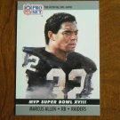 Marcus Allen Los Angeles Raiders RB MVP Super Bowl XVIII No. 18 - 1990 Pro Set Football Card