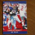 Cornelius Bennett Buffalo Bills Linebacker Card No. 39 - 1990 NFL Pro Set Football Card