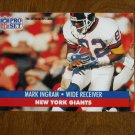 Mark Ingram New York Giants Wide Receiver Card No. 65 - 1991 NFL Pro Set Football Card