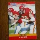 John Alt Kansas City Chiefs T Card No. 140 - 1990 NFL Pro Set Football Card