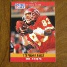 Stephone Paige Kansas City Chiefs WR Card No. 146 - 1990 NFL Pro Set Football Card