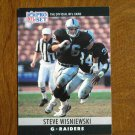 Steve Wisniewski Los Angeles Raiders G Card No. 160 - 1990 NFL Pro Set Football Card