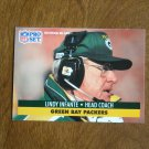 Lindy Infante Green Bay Packers Head Coach Card No. 162 - 1991 NFL Pro Set Football Card