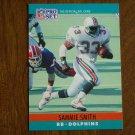 Sammie Smith Miami Dolphins RB Card No. 183 - 1990 NFL Pro Set Football Card