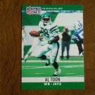 Al Toon New York Jets WR Card No. 240 (FB240) 1990 NFL Pro Set Football Card