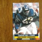 Courtney Hall San Diego Chargers Guard Card No. 284 - 1991 NFL Pro Set Football Card