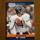 Jim Harbaugh Chicago Bears QB Card No. 452 - 1990 NFL Pro Set Football Card