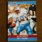 Allen Pinkett Houston Oilers RB Card No. 519 - 1990 NFL Pro Set Football Card